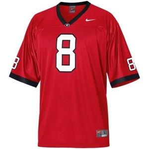 A.J. Green (UGA) #8 Football Jersey - Red