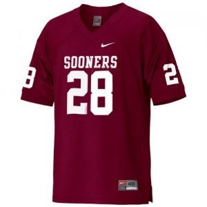 Adrian Peterson Oklahoma Sooners #28 Youth Football Jersey - Crimson Red