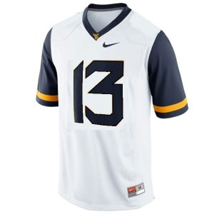 Andrew Buie West Virginia Mountaineers #13 Youth Football Jersey - White