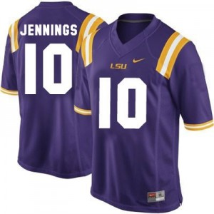 Anthony Jennings LSU Tigers #10 Youth Football Jersey - Purple