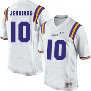 Anthony Jennings LSU Tigers #10 Youth Football Jersey - White
