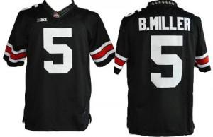 Braxton Miller Ohio State Buckeyes #5 Football Jersey - Black