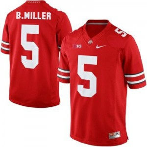 Braxton Miller Ohio State Buckeyes #5 Football Jersey - Scarlet Red
