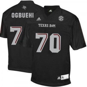 Cedric Ogbuehi Texas A&M Aggies #70 Youth Football Jersey - Black