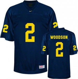 Charles Woodson Michigan Wolverines #2 Youth Football Jersey - Navy Blue