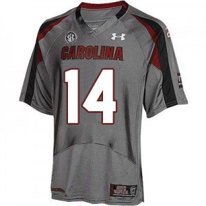Connor Shaw South Carolina Gamecocks #14 Youth Football Jersey - Gray