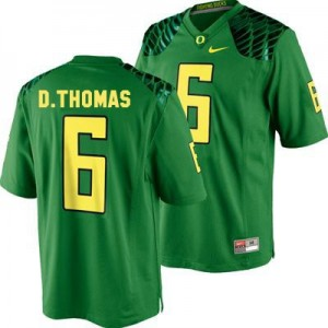 De'Anthony Thomas Oregon Ducks #6 Youth Football Jersey - Apple Green
