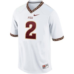 Deion Sanders (FSU) #2 Youth Football Jersey - White