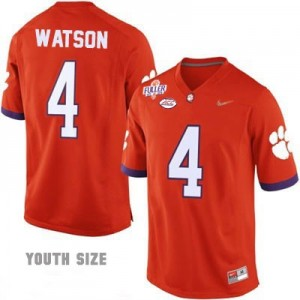 Deshaun Watson #4 Clemson Tigers 2016 Playoff Football Jersey - Orange - Youth
