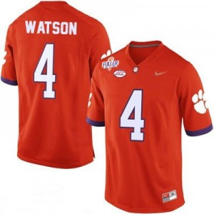 Deshaun Watson #4 Clemson Tigers Diamond Quest Football Jersey - Orange