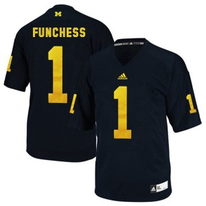 Devin Funchess Michigan Wolverines #1 Football Jersey - Blue