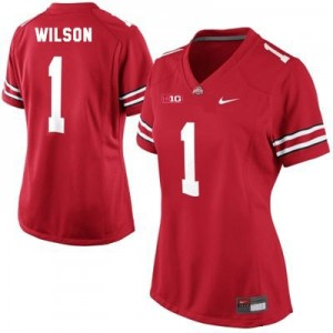 Dontre Wilson Ohio State #1 Women Football Jersey - Scarlet Red