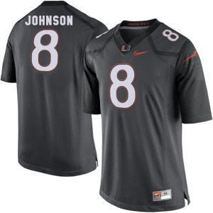 Duke Johnson Miami Hurricanes #8 Football Jersey - Black