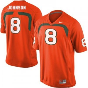 Duke Johnson Miami Hurricanes #8 Football Jersey - Orange