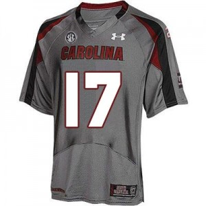 Dylan Thompson South Carolina Gamecocks #17 Youth Football Jersey - Gray