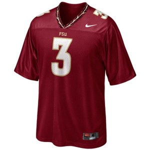 EJ Manuel (FSU) #3 Youth Football Jersey - Red