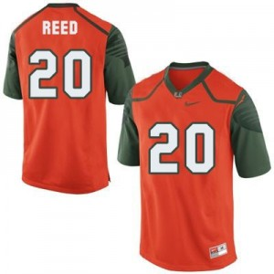 Ed Reed Miami Hurricanes #20 Youth Football Jersey - Orange