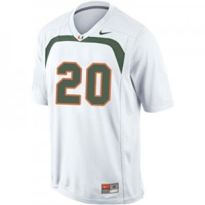 Ed Reed Miami Hurricanes #20 Youth Football Jersey - White