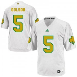 Everett Golson Notre Dame Fighting Irish #5 Shamrock Series Football Jersey - White