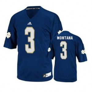 Joe Montana Notre Dame Fighting Irish #3 Youth Football Jersey - Navy Blue