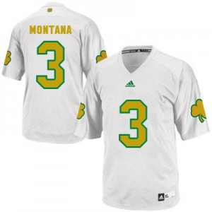 Joe Montana Notre Dame Fighting Irish #3 Shamrock Series Football Jersey - White