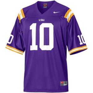 Joseph Addai LSU Tigers #10 Mesh Football Jersey - Purple