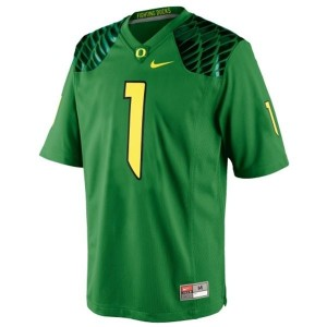 Josh Huff Oregon Ducks #1 Football Jersey - Apple Green