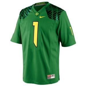 Josh Huff Oregon Ducks #1 Football Jersey - Apple Green