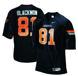 Justin Blackmon Oklahoma State Cowboys #81 Football Jersey - Black