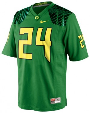 Kenjon Barner Oregon Ducks #24 Football Jersey - Apple Green