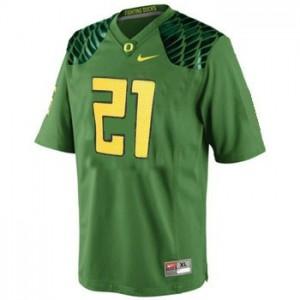 LaMichael James Oregon Ducks #21 Football Jersey - Apple Green