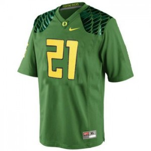 LaMichael James Oregon Ducks #21 Youth Football Jersey - Apple Green
