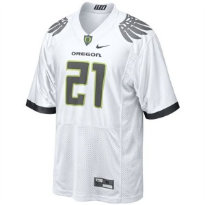 LaMichael James Oregon Ducks #21 Youth Football Jersey - White