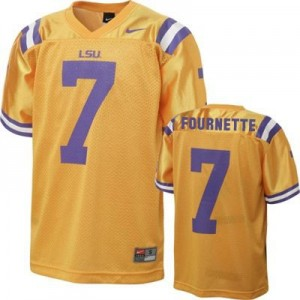 Leonard Fournette LSU Tigers #7 Football Jersey - Gold
