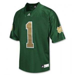 Louis Nix III Notre Dame Fighting Irish #1 Football Jersey - Green