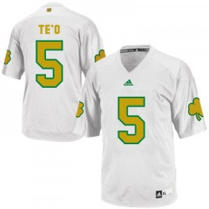 Manti Te'o Notre Dame Fighting Irish #5 Shamrock Series Football Jersey - White