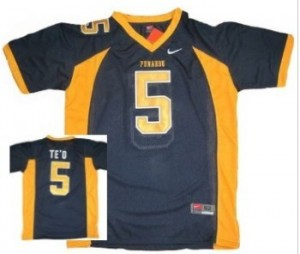 Manti Te'o Punahou High School(Honolulu) #5 Blue Football Jersey