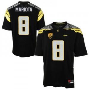 Marcus Mariota Oregon Ducks 2014 #8 Mach Speed Football Jersey - Black