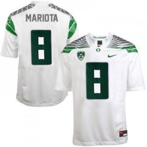 Marcus Mariota Oregon Ducks 2014 #8 Mach Speed Football Jersey - White
