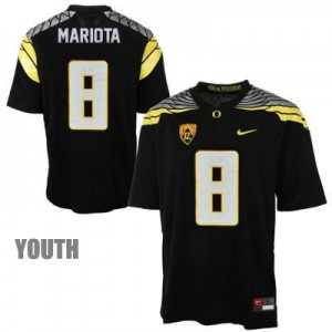 Marcus Mariota Oregon Ducks 2014 #8 Mach Speed Youth Football Jersey - Black
