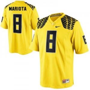 Marcus Mariota Oregon Ducks #8 Football Jersey - Yellow