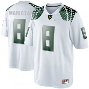 Marcus Mariota Oregon Ducks #8 Youth Football Jersey - White
