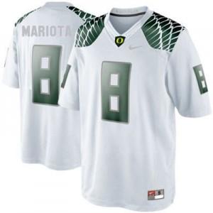 Marcus Mariota Oregon Ducks #8 Youth Football Jersey - White