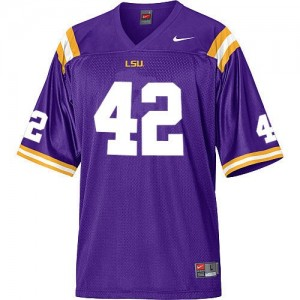 Michael Ford LSU Tigers #42 Mesh Football Jersey - Purple