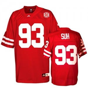 Ndamukong Suh Nebraska Cornhuskers #93 Football Jersey - Red