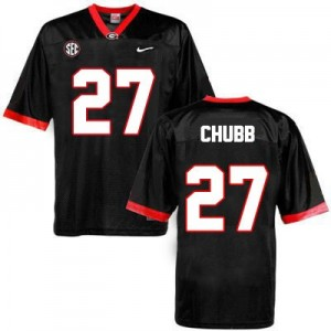 Nick Chubb (UGA) #27 Football Jersey - Black