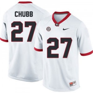 Nick Chubb (UGA) #27 Football Jersey - White