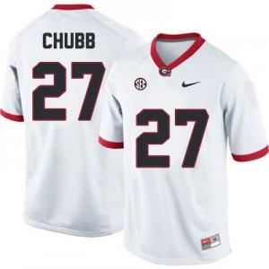 Nick Chubb (UGA) #27 Football Jersey - White