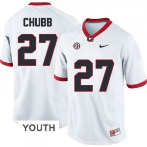Nick Chubb (UGA) #27 Football Jersey - White - Youth