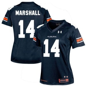 Nick Marshall Auburn Tigers #14 Women Football Jersey - Navy Blue